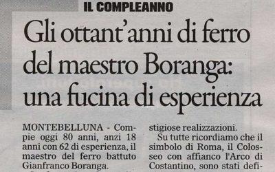 The master of Fucina Artistica Boranga turns 80 years