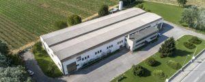 Veduta aerea della sede di Fucina Artistica boranga in Giavera del Montello Treviso